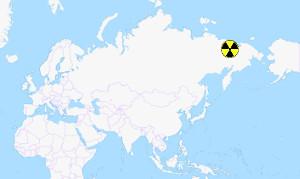 Localisation de la centrale nucléaire de Bilibino