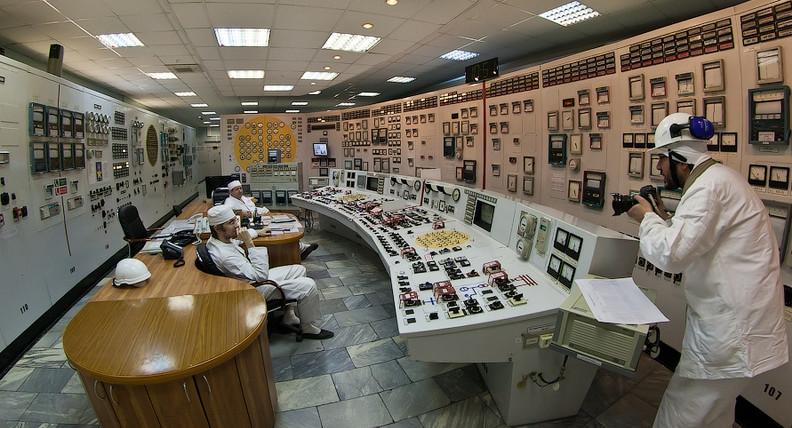 Centrale nucléaire de Bilibino - Salle de controle
