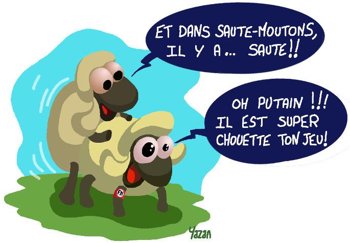 Dessin - Deux moutons du front national en acte de sodomie