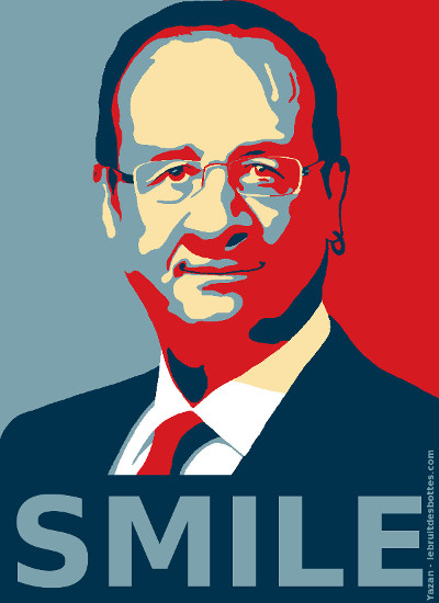 Smile - François hollande version obey
